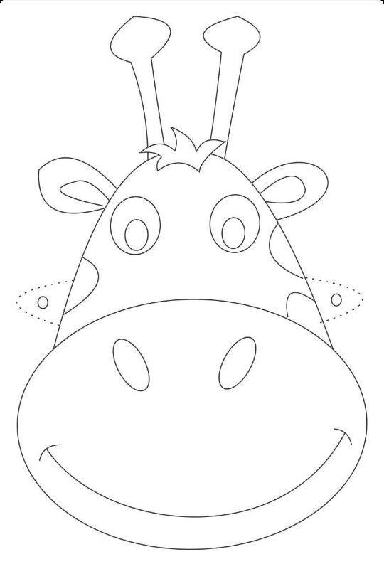 Zurafa Maskesi Hayvan Maskeler Aplike Desenleri
