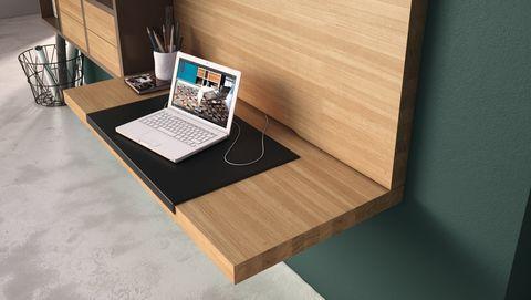 Wonen: Hülsta   Die Möbelmarke Home Office : Desk, Bureau Aan De Wand Met