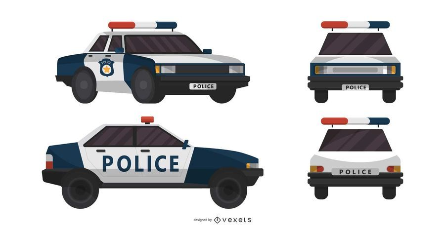 Police Car Different Views Illustration Ad Affiliate Aff Car Views Illustration Police Police Cars Police Illustration