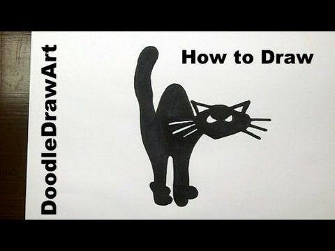 How to Draw a Black Cat for Halloween Step by Step , YouTube