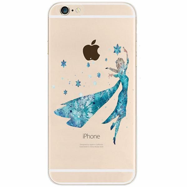 Disney Aquarelle Frozen Elsa Iphone Case Free Shipping Flexible