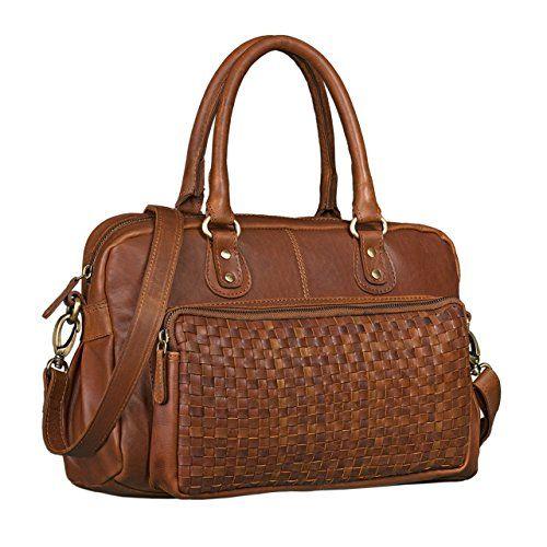 4e97d1f5836c1 STILORD  Elena  Vintage Handtasche Damen Umhängetasche geflochten elegante  Ledertasche Shopping Ausgehen weiches Leder
