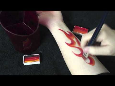 Face Painting with TAG One Stroke Cake: Dragon vs Flame