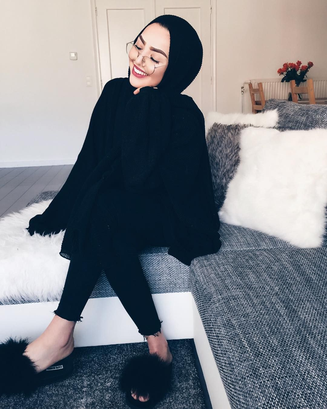 Image result for black hijab outfit