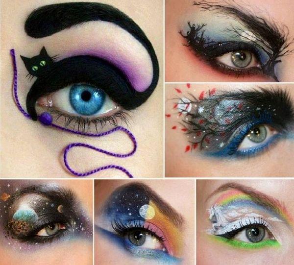 Halloween Witches Eye Makeup Cartooncreative