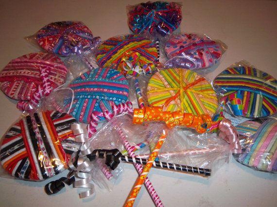 Ponytail Holders Lollipop  Hair Tie backs  30 or by MyGiftsbyJane, $5.00