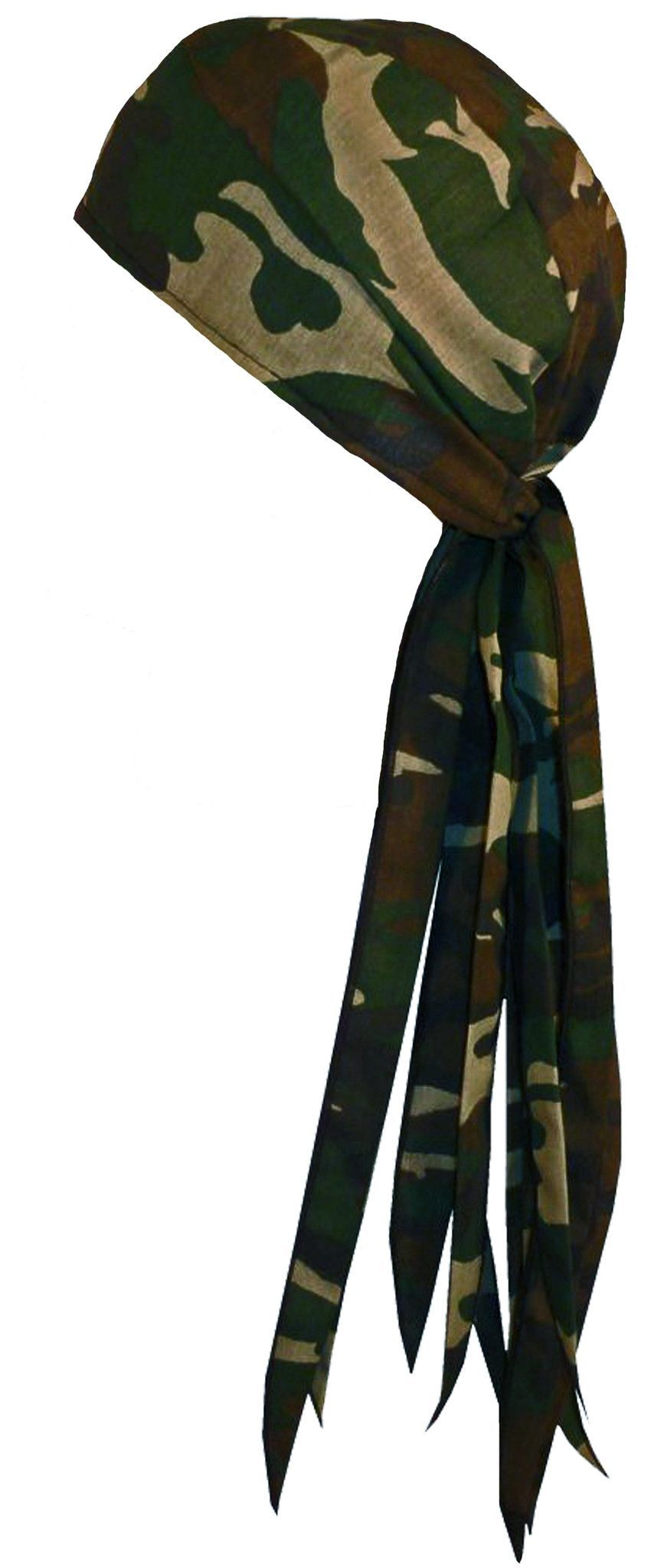 Orange Camouflage Leaf Bandana Headscarf Adjustable Do Rag Orange Camo Hunting