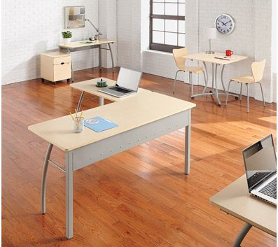 Linea Italia To L Shaped Desk Oatmeal