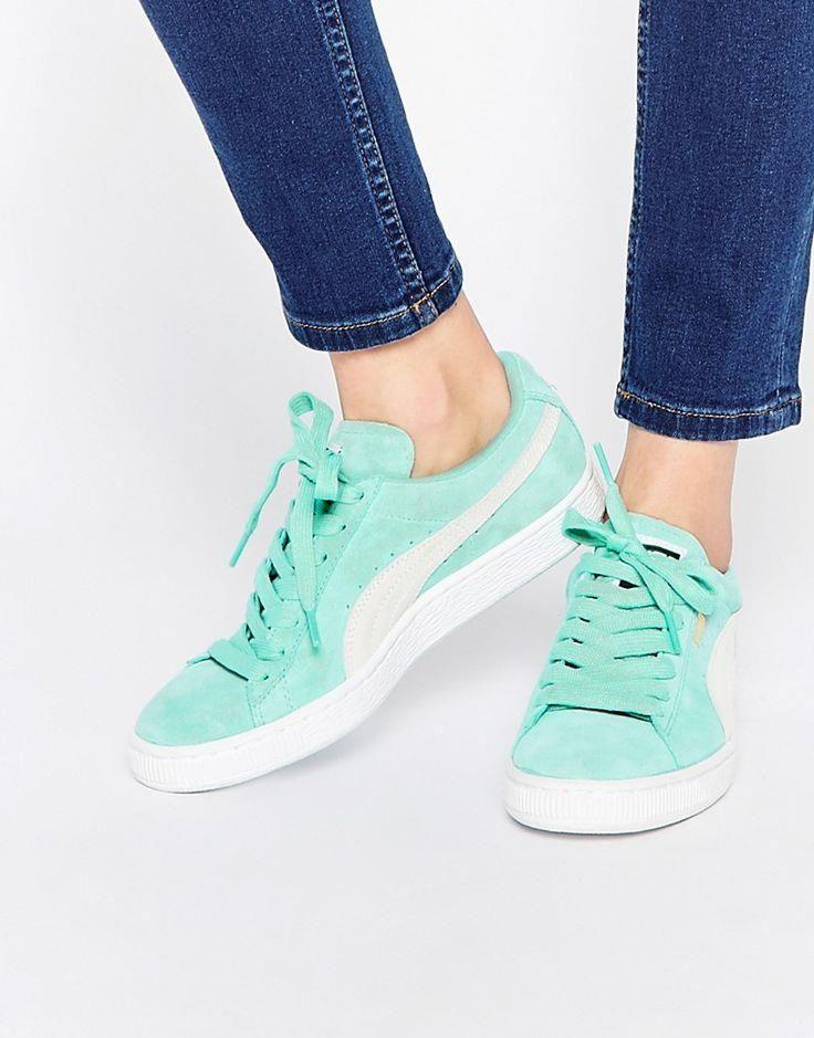 puma mint green sued puma mint green suede basket sneakers  145c42d5e