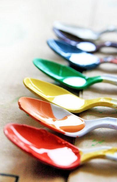 Cucharas llenas de color. El arco iris pueden estar en cualquier parte #rainbow #arcoiris