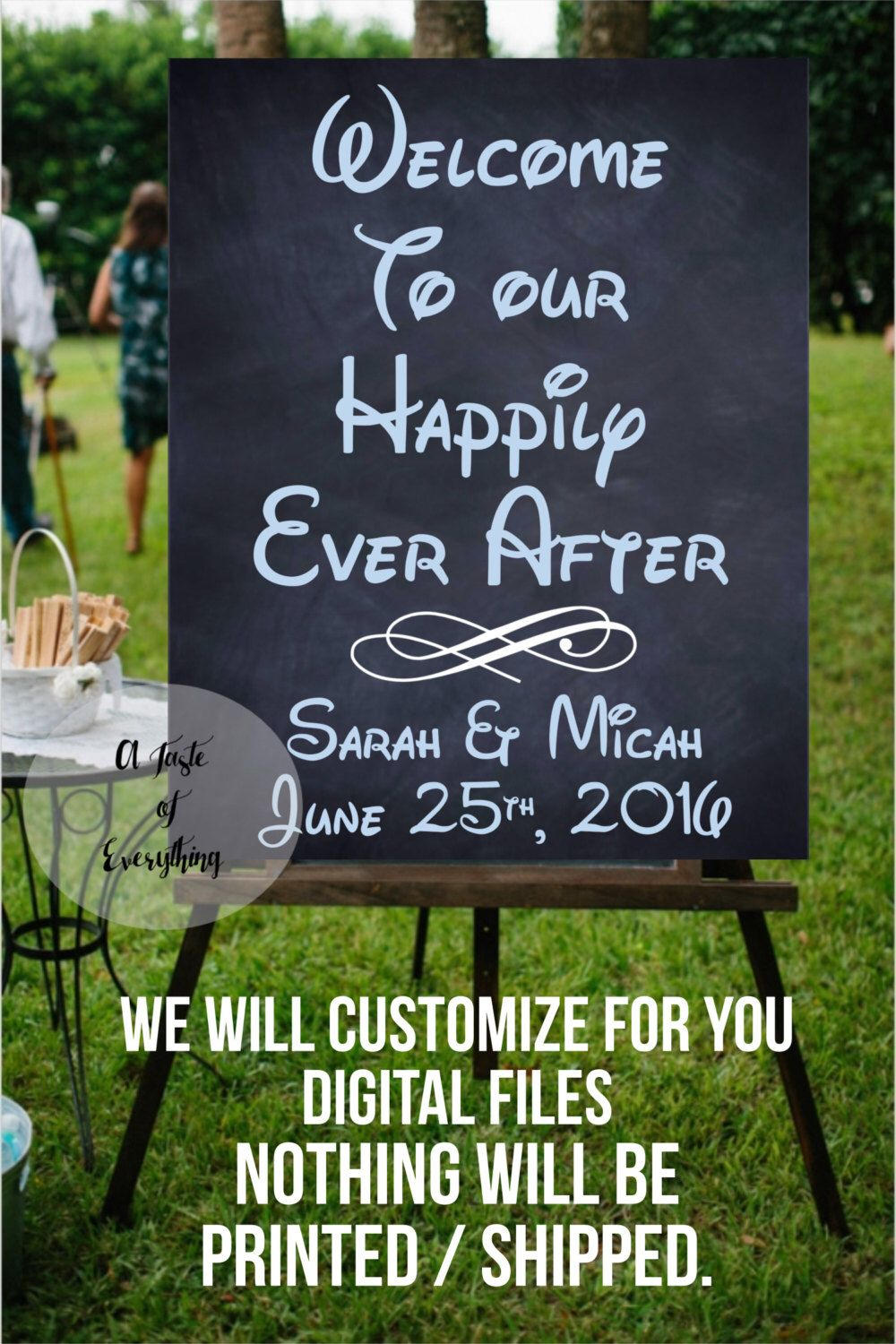 Be our Guest 16x20 inches Instant Wedding sign signage party beauty ...