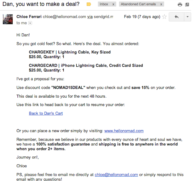 13 Amazing Abandoned Cart Emails (And What You Can Learn