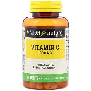Mason Natural Vitamin C 1 000 Mg 100 Tablets Iherb 건강 영양 생선