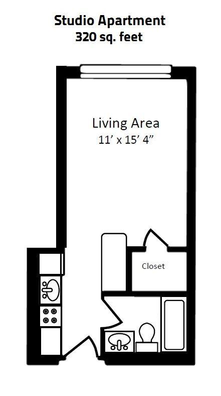 320 Square Foot Studio Apartment Feet One Room Flat