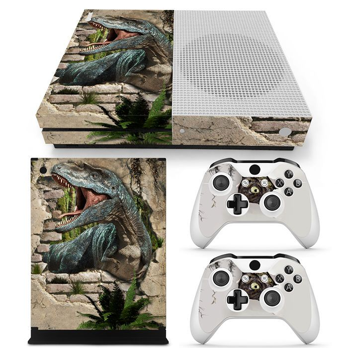 Details About Xbox One S Console Skin Decal Sticker Dinosaur