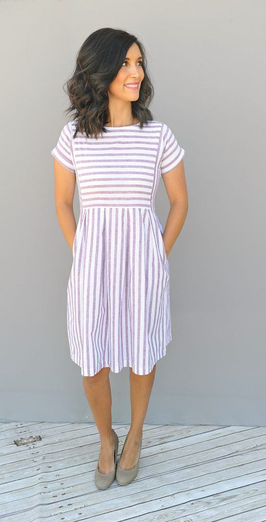 002fa8eee1f1 Chambray Stripe Dress  Scarlet stripes - got this dress for family pics and  I love it!
