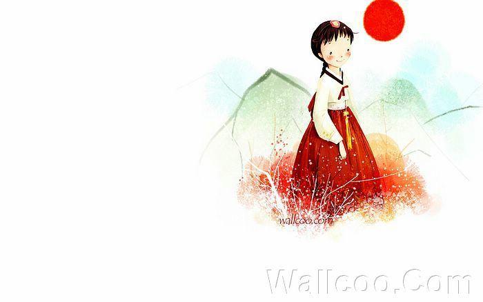 Kim Jong Bok Illustrations(Vol.03) - Cartoon Cute Fairy Girl - Art Illustration : A Traditional Korean Girl 21
