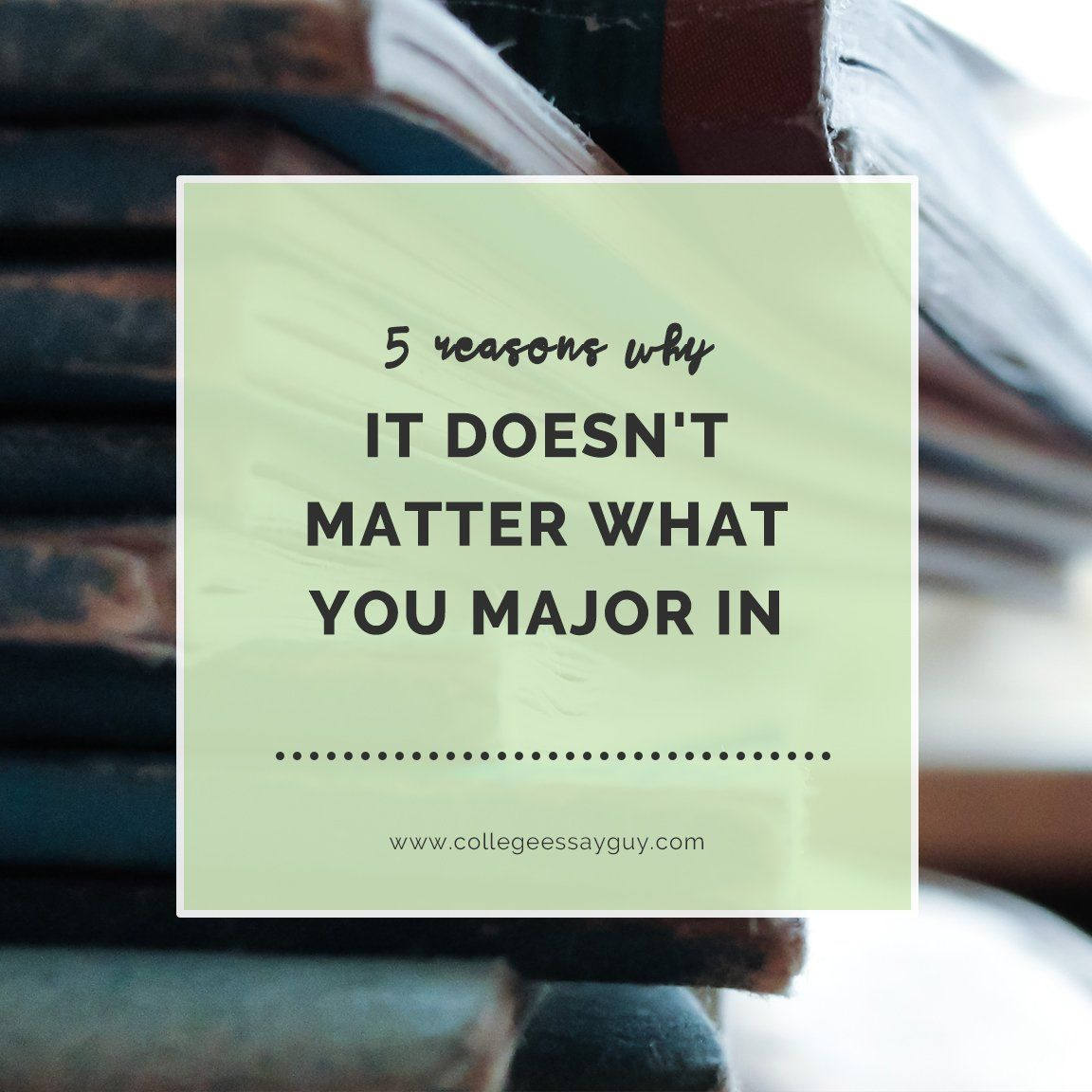5 reasons why your major may not matter as much as you