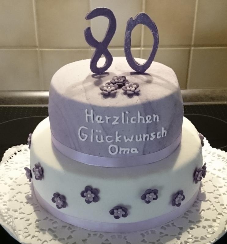Lila Traum Zum 80sten Geil Geburtstag Torte Kuchen Und Fondant