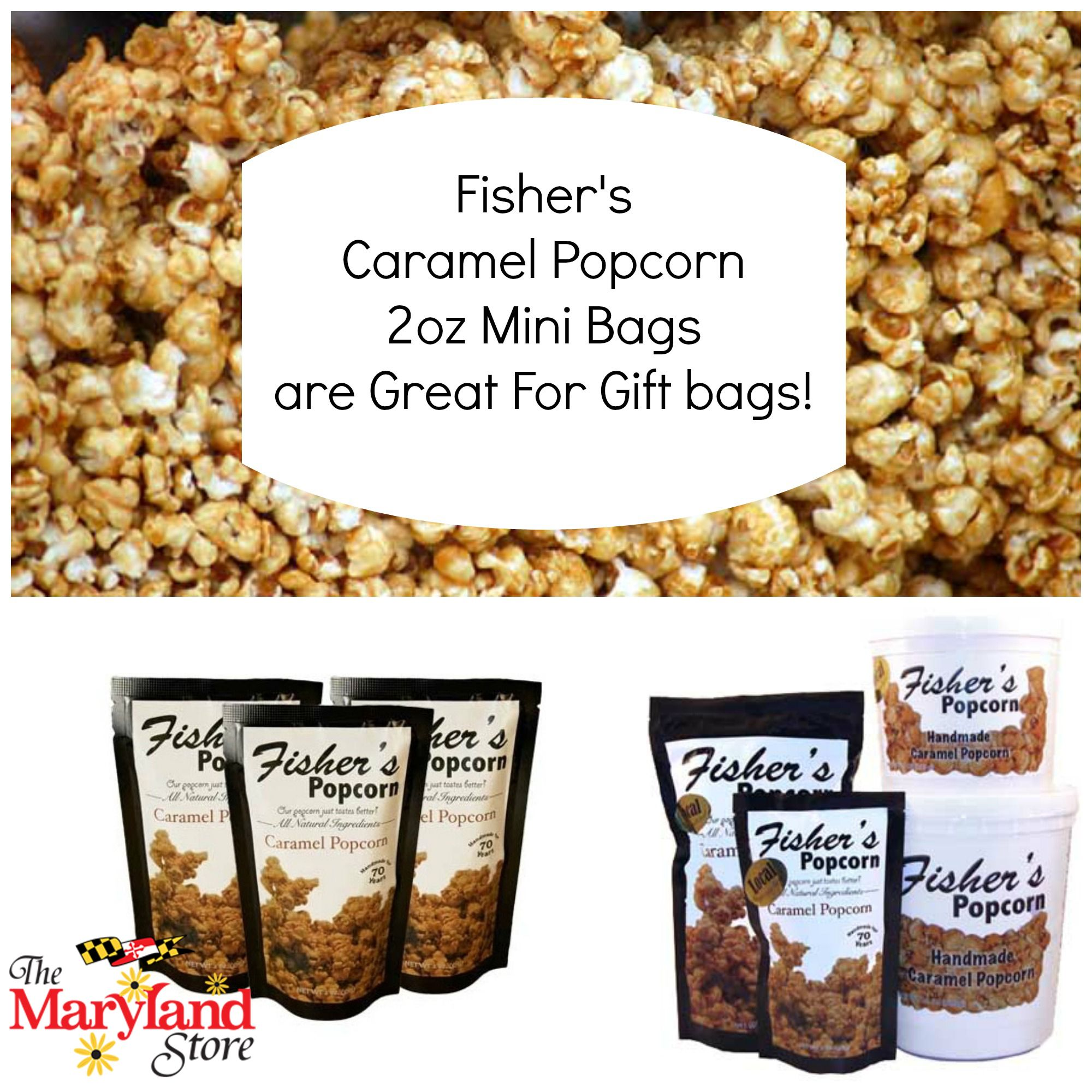 Fisher\'s Caramel Popcorn Mini Bags make great wedding favors and ...
