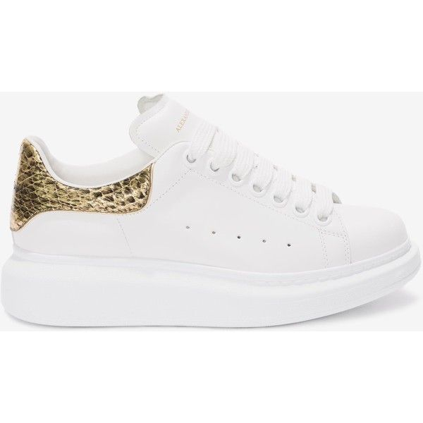 Alexander Mcqueen Oversized Sneaker 485 Liked On Polyvore Featuring Shoes Sneakers Snake Print Shoe Snake Print Shoes Vintage Sneakers Metallic Sneakers
