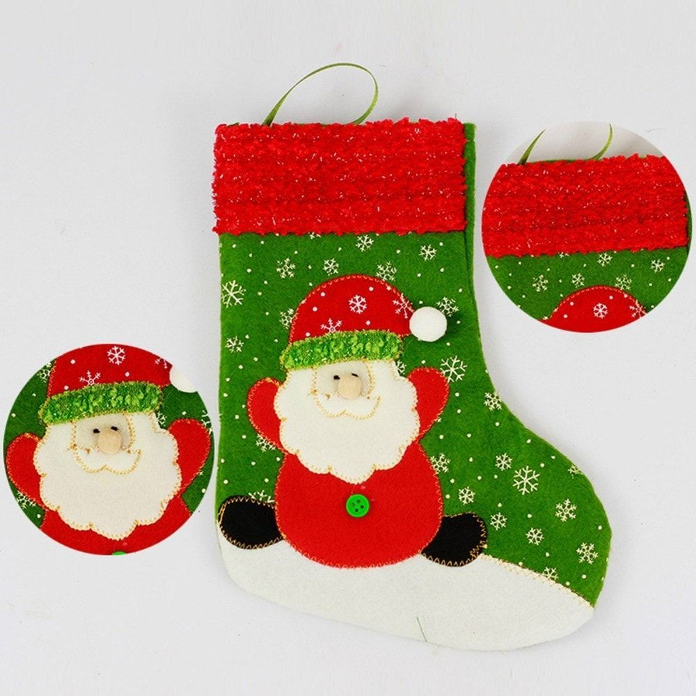 christmas decoration santasnowman indoor hanging stockings 2pc