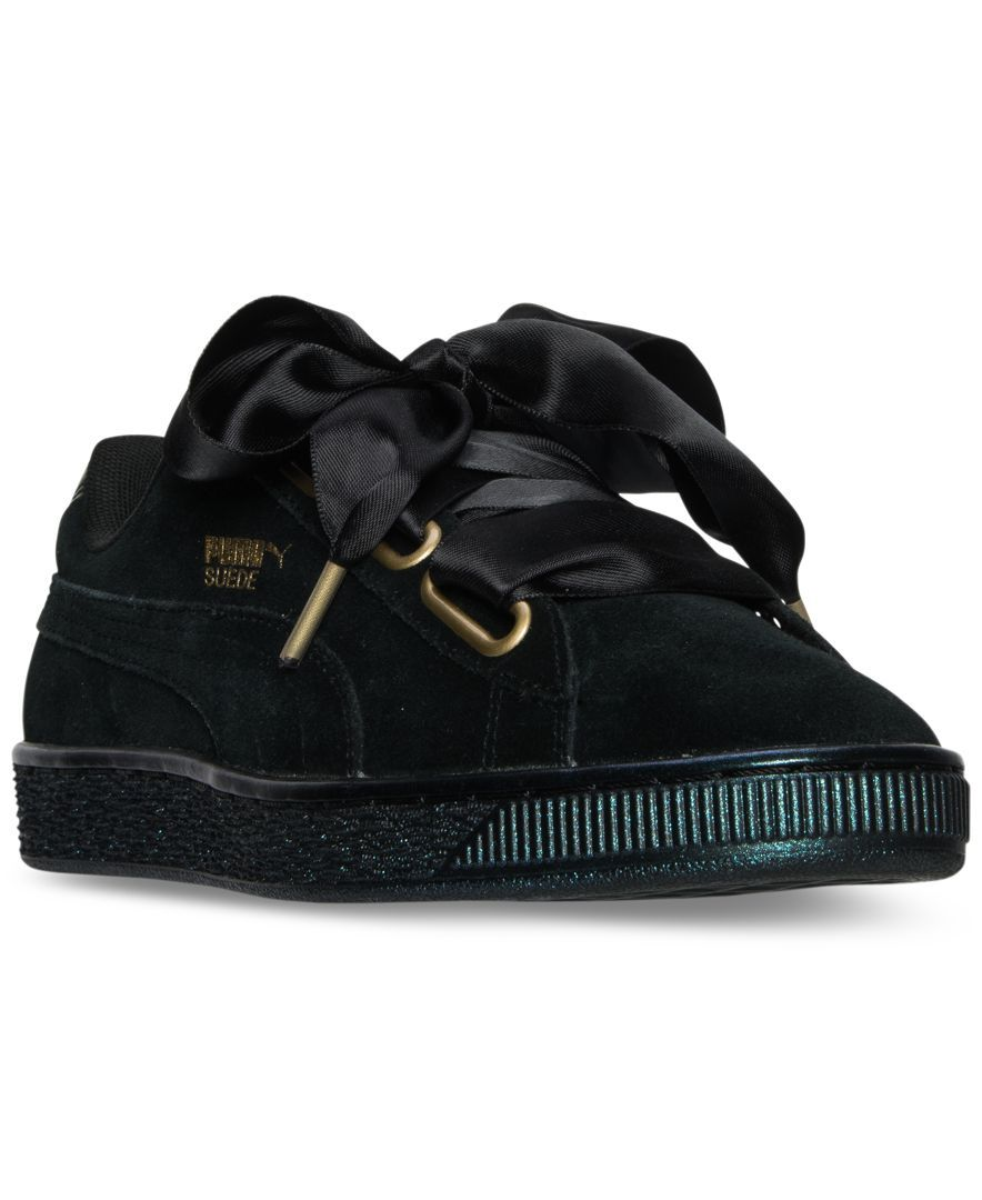 puma women 39 s suede heart satin casual sneakers from finish. Black Bedroom Furniture Sets. Home Design Ideas