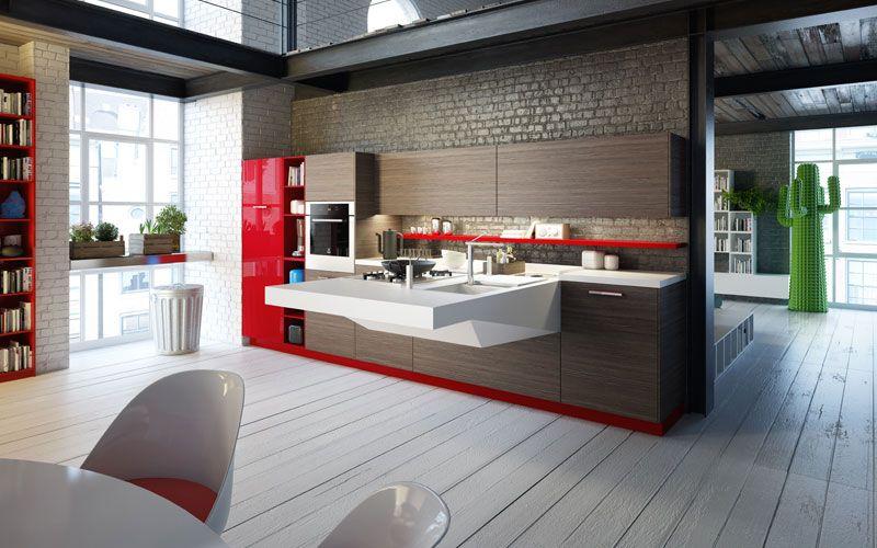 Tarima Para Cocinas | Tarimas Blancas Para El Suelo De La Cocina Tarima En Cocinas