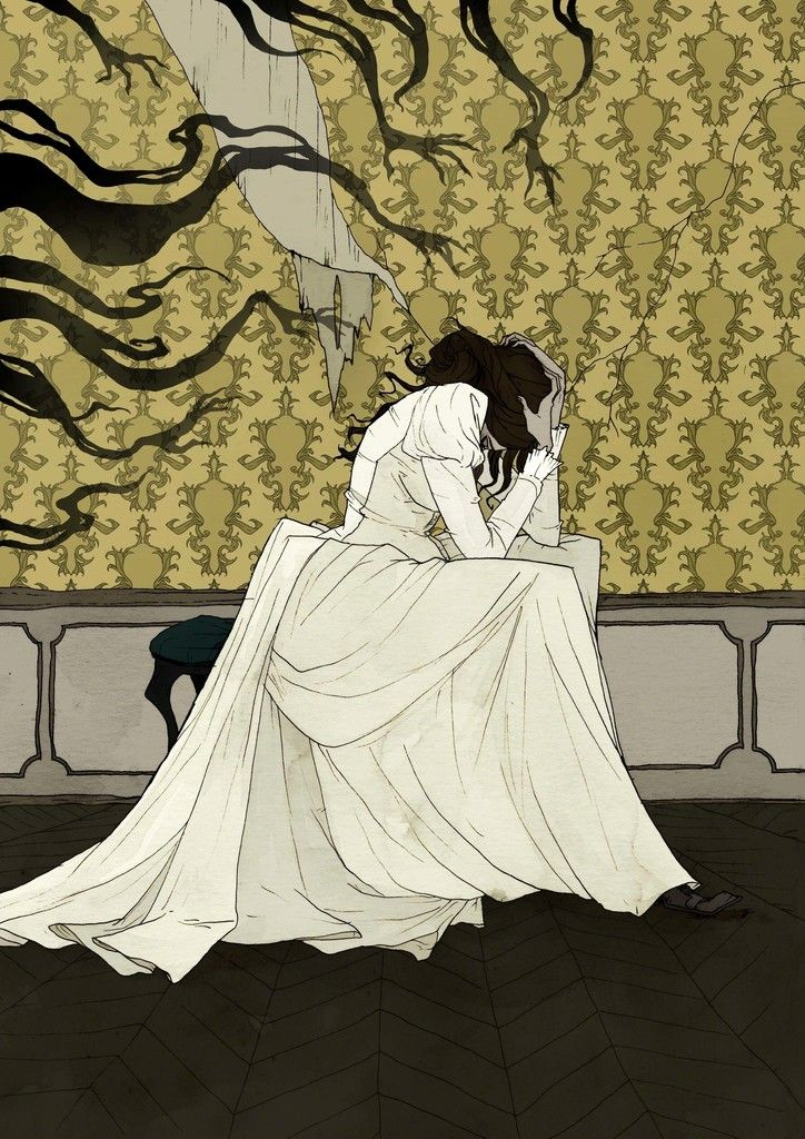 trapped with your demons > mood art Abigail Larson, The
