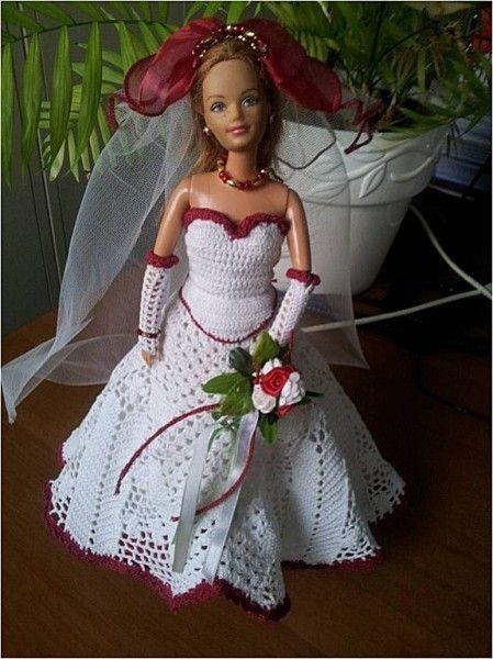Défilé-Stylistes 2012 :Barbie mariée (7) | Crochet barbie II ...
