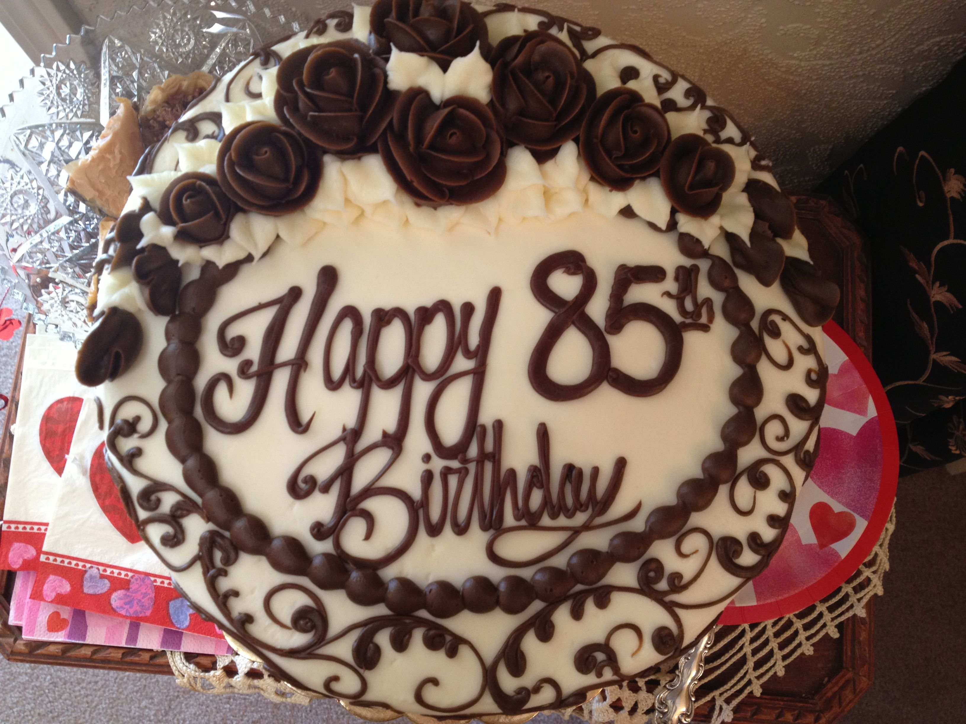 Beautiful 85th Birthday Cake