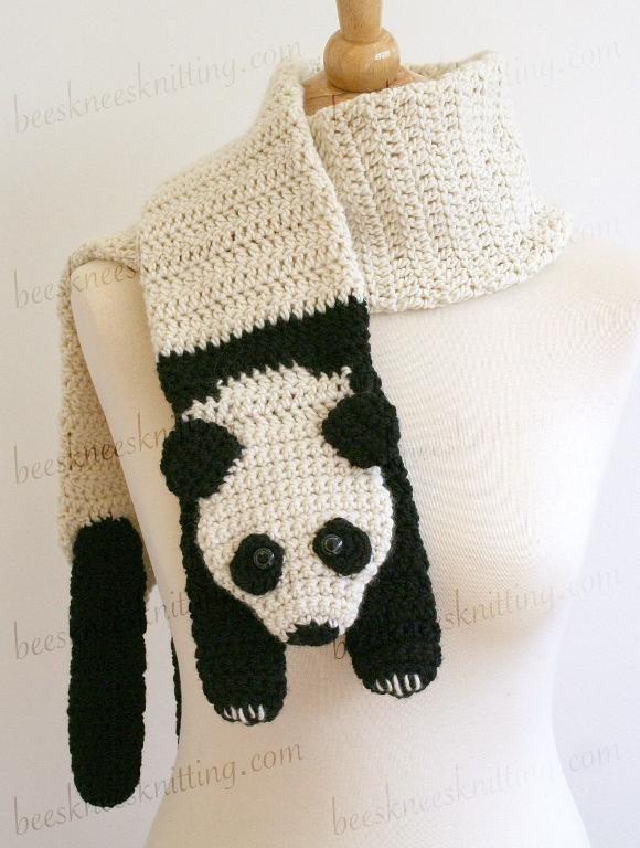 Panda Scarf Crochet Pattern   Sombreros Para Niñas Bebés