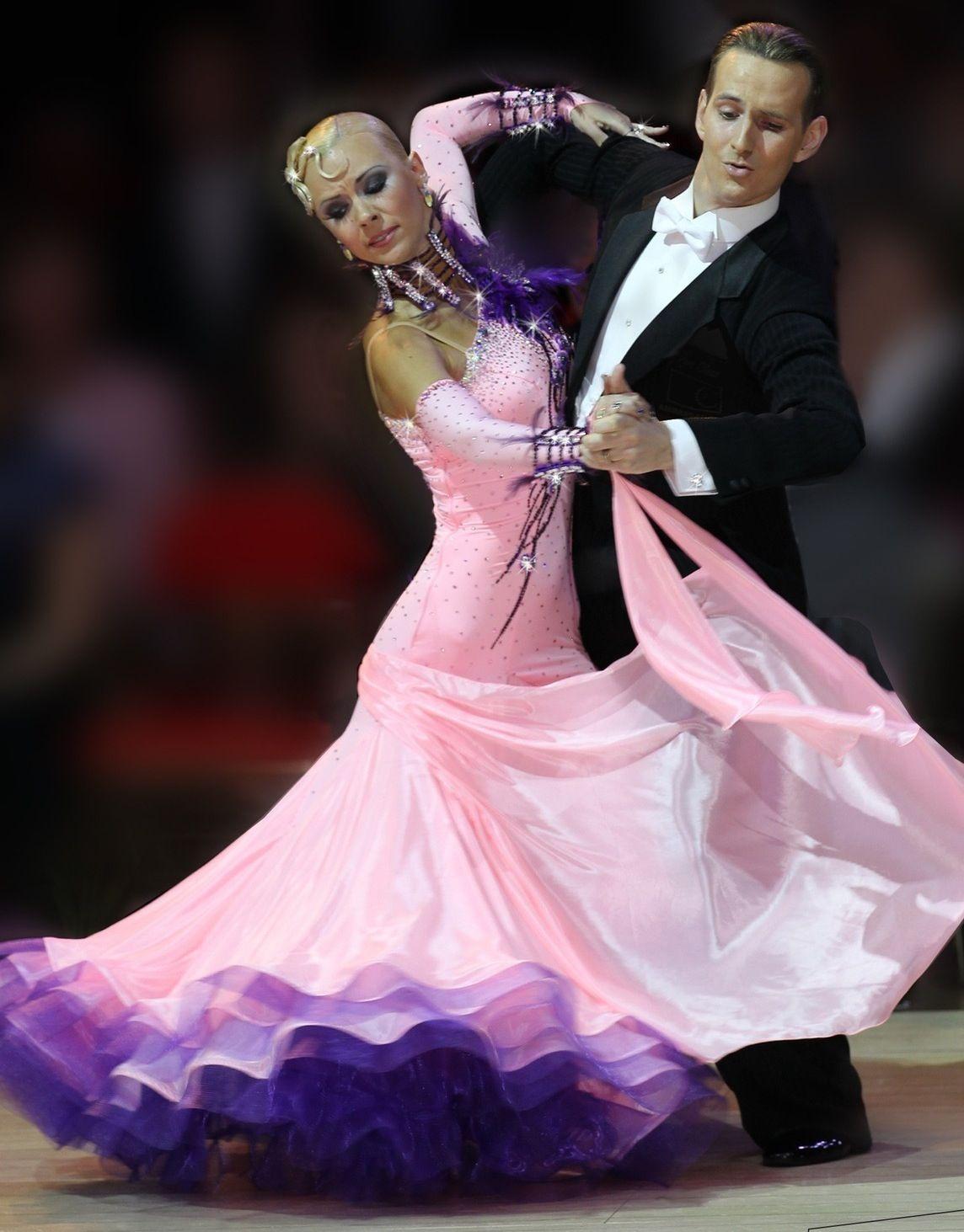 Mark Elsbury & Olga Elsbury | Blackpool Dance Festival 2012 [Chrisanne sponsor dress, delicate color shading]