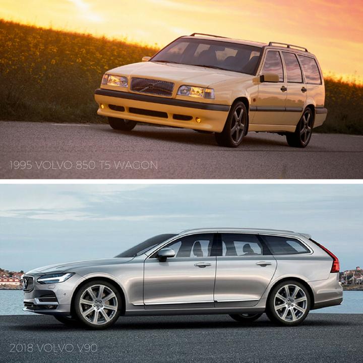 Tbt 1995 Volvo 850 T5 Wagon Vs 2018 Volvo V90 Volvo 850 Kombis