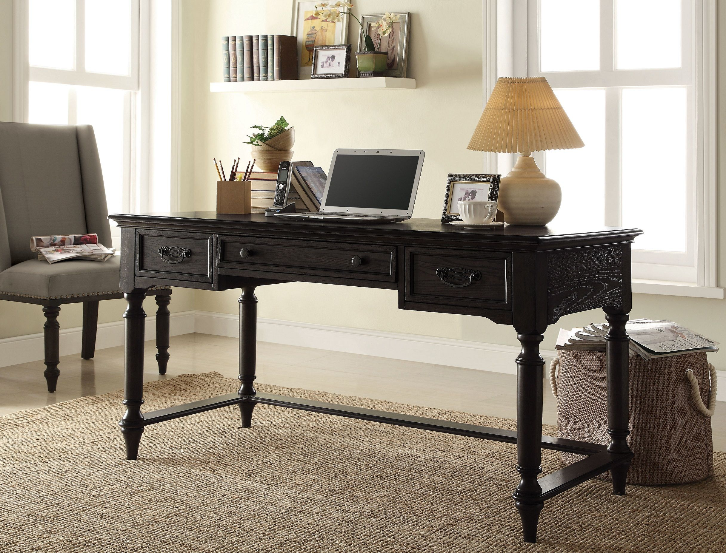 Belmeade Raven Black Writing Desk