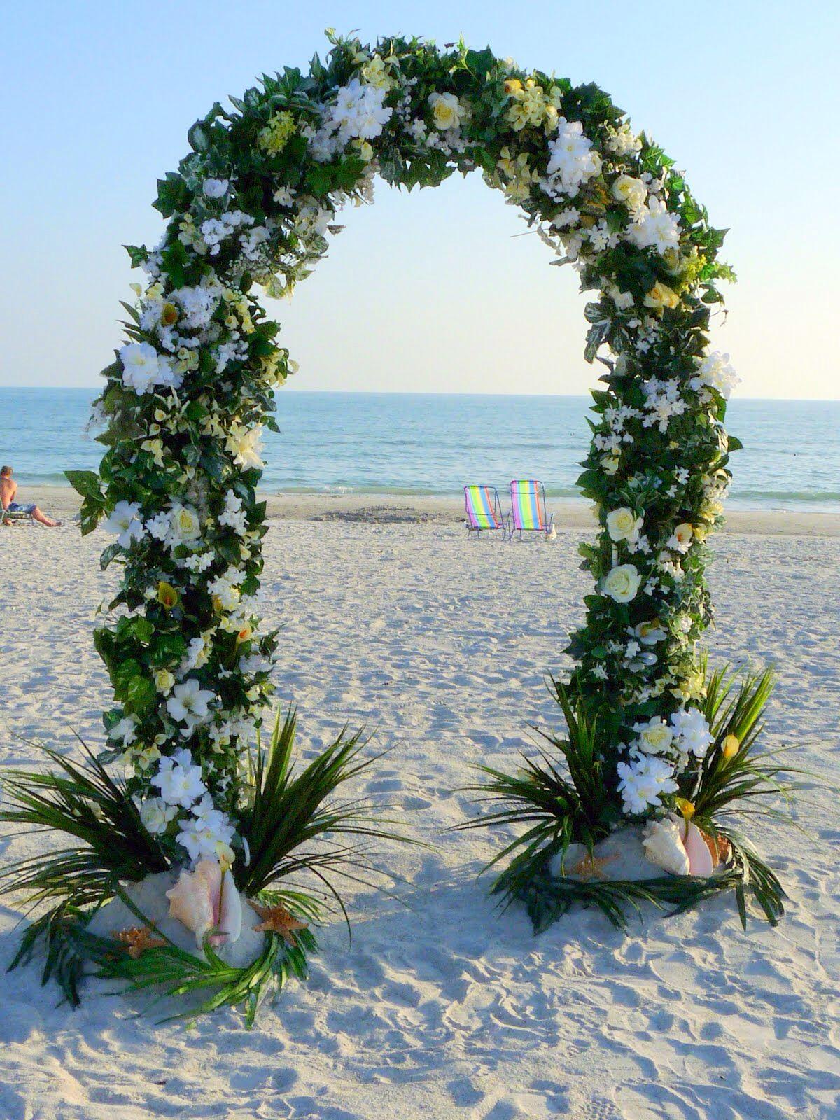 Souvent Arco di fiori sulla spiaggia | allestimento gazebo | Pinterest  TQ46