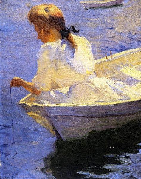 Eleanor in the Dory (Frank Weston Benson - 1904)