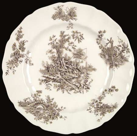 toile pattern dinnerware | Pattern Pastorale Toile De Jouy-Brown by JOHNSON BROTHERS [JB PATDJBR .  sc 1 st  Pinterest & toile pattern dinnerware | Pattern: Pastorale Toile De Jouy-Brown by ...
