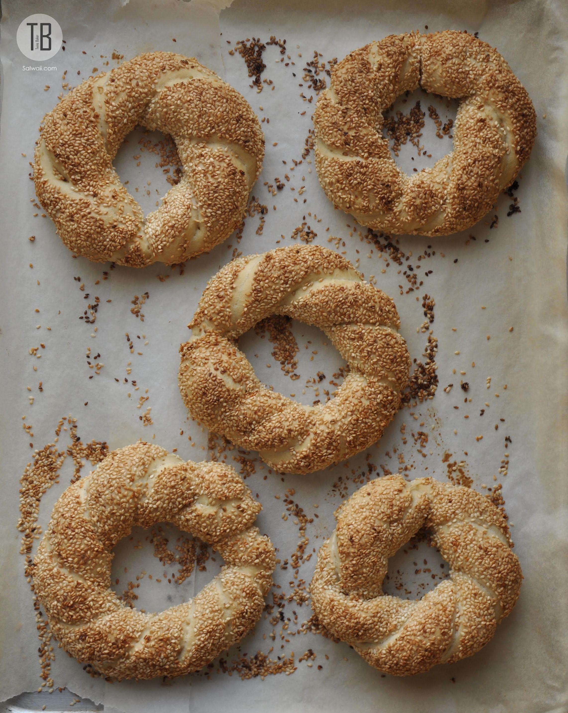 خبز السميت التركي Simit Bread Savory Dessert Sweet Bread Pie Dessert