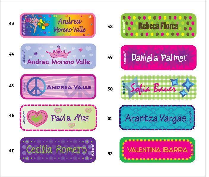 Etiquetas Escolares Etiquetas Para Lapices Etiquetas De Material Escolar Etiquetas Para Libretas