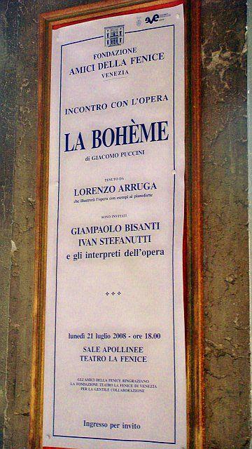 La Boheme L'Opera, Venice, Italy