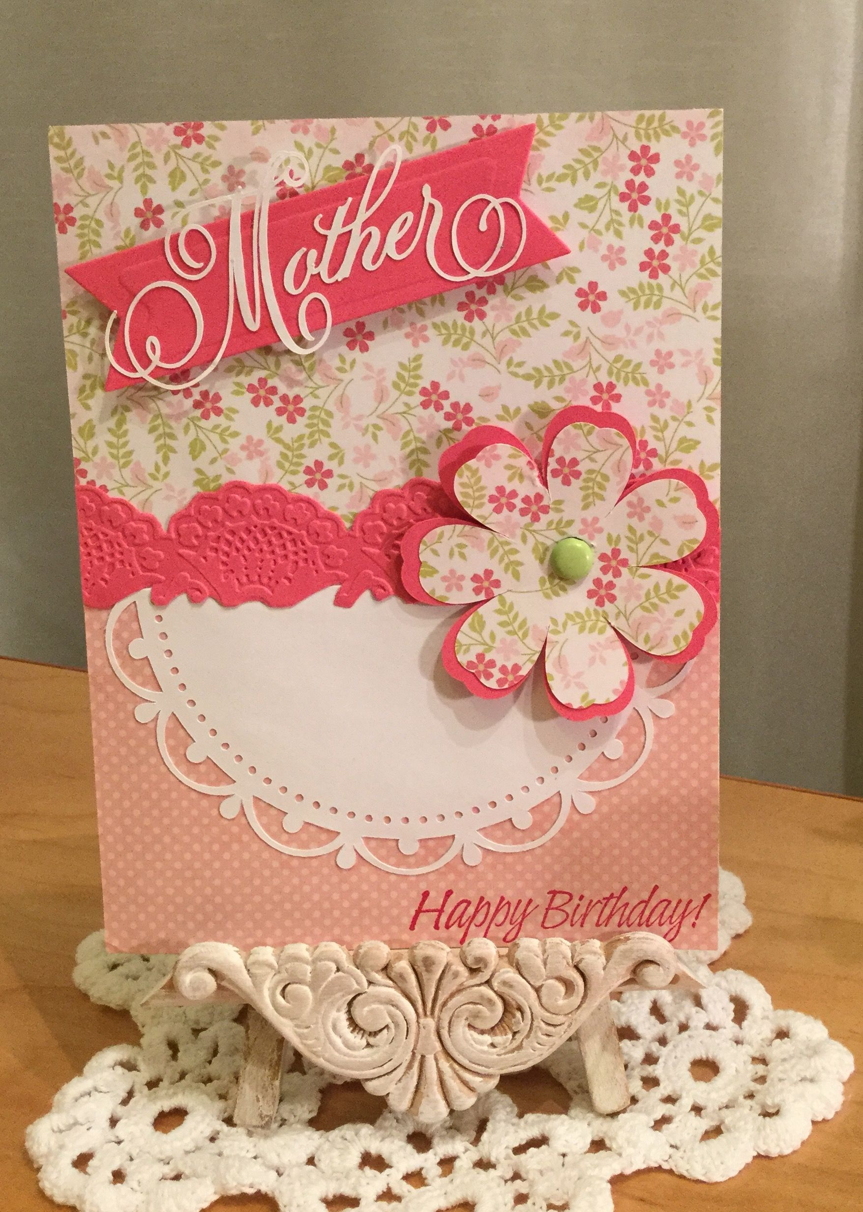 birthday card  made with anna griffin bridal  baby