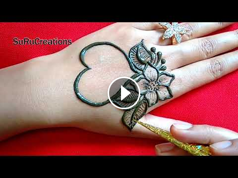 Beautiful valentine special heart mehndi design easy also rh pinterest