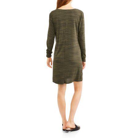 e77e0db453f Mia Kaye Women s Long Sleeve Fleece T-Shirt Dress