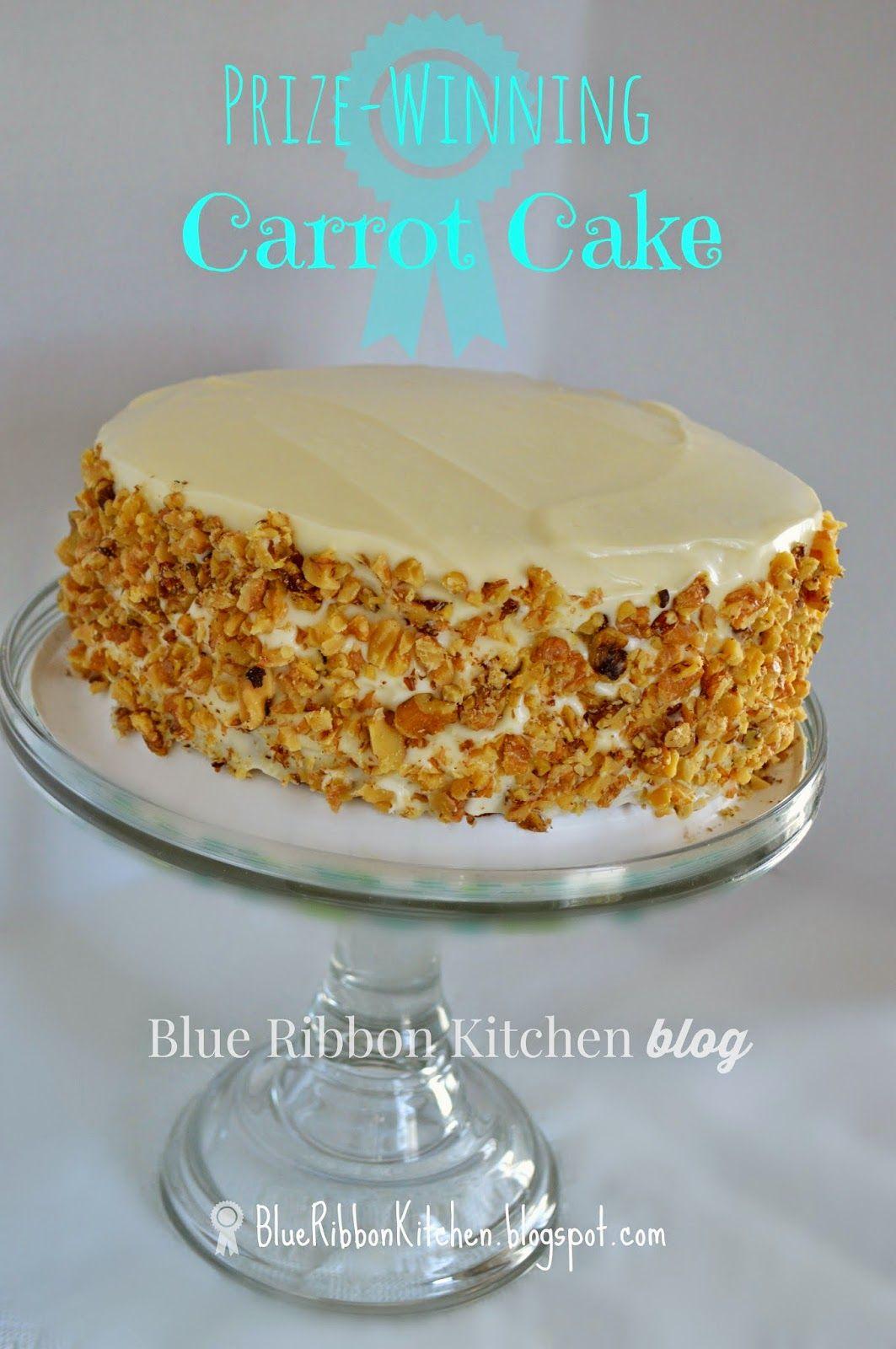 Blue Ribbon Kitchen Prize Winning Carrot Cake Eating Your