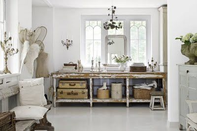 Shabby Chic craft room work space