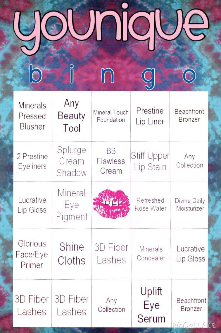 Younique Bingo Younique, Younique party games, Younique