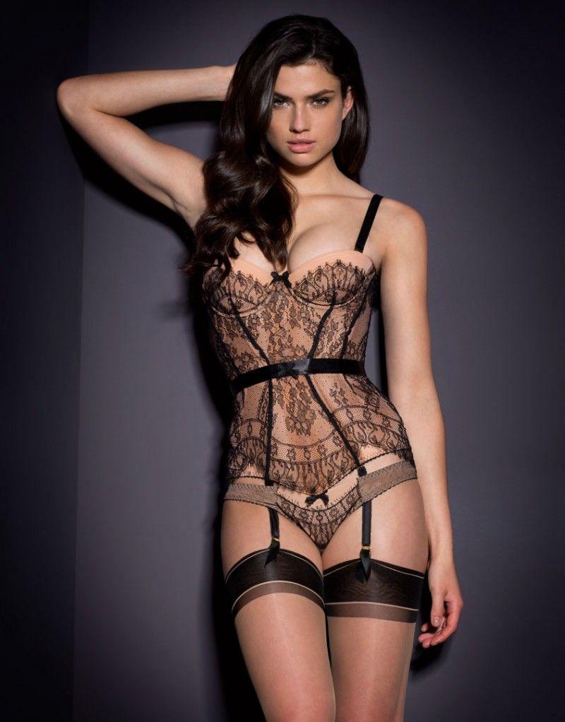 Agent Provocateur Sylvea Corset Nude/Black | Pinterest ...