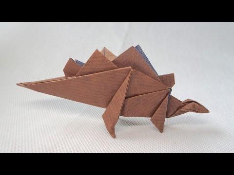 Photo of ORIGAMI DINOSAUR STEGOSAURUS | Paper Dinosaur,  #Dinosaur #Origami #origamidinosaur