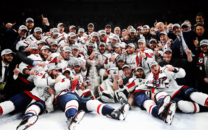 Download Wallpapers Washington Capitals American Hockey Team Nhl
